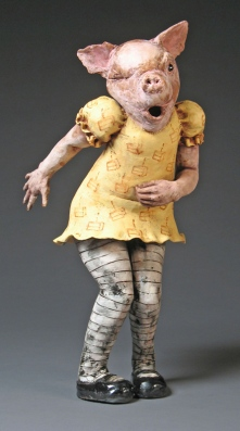 "Too Much Cake, 2006, terracotta, 25"" x 10"" x 12"""